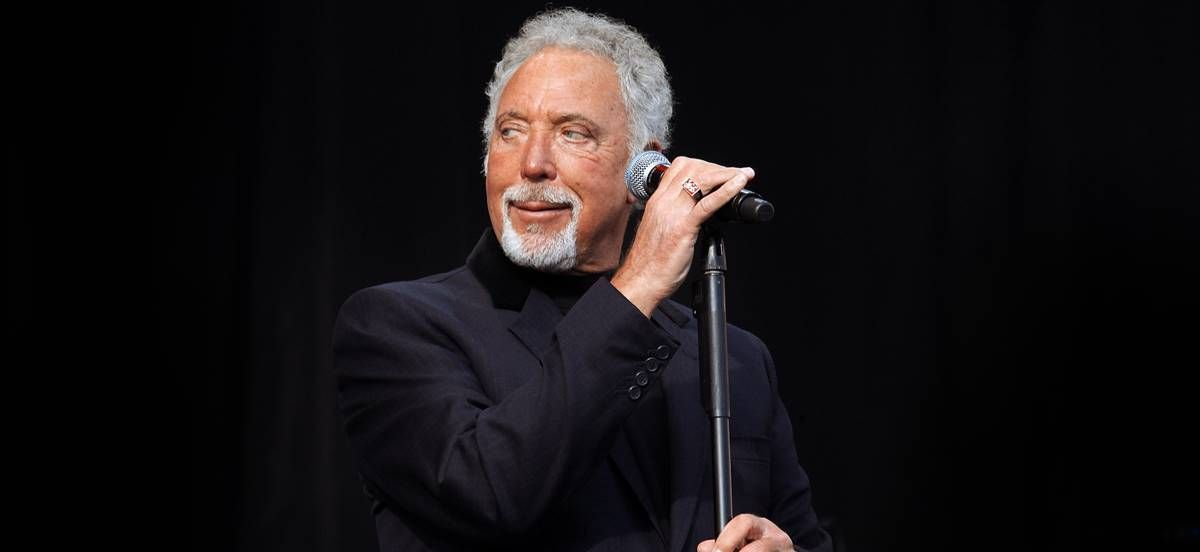 Tom Jones plays at T in the Park on the 7th July 2011